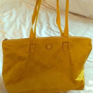 Yellow, Coach mid-size, shoulder tote